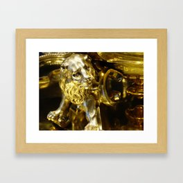 Gold Lion Framed Art Print