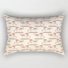 Gold Leaf Flamingo Pattern Rectangular Pillow