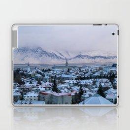 Icy Mountains in Reykjavik Laptop & iPad Skin