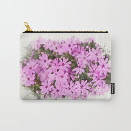 Watercolor Phlox Carry-All Pouch