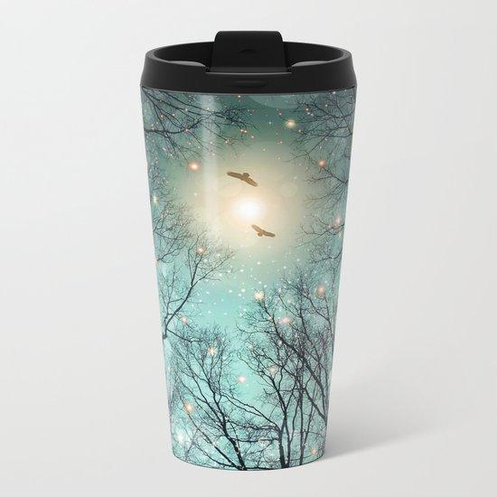 Nature Blazes Before Your Eyes (Mint Embers) Metal Travel Mug