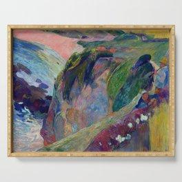 "Paul Gauguin ""The Flageolet Player on the Cliff (Le jouer de flageolet)"" Serving Tray"