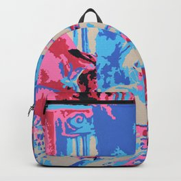 Girl Contemplating Backpack