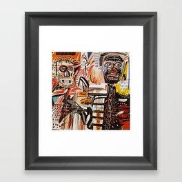 A vectorised Basquiat Framed Art Print