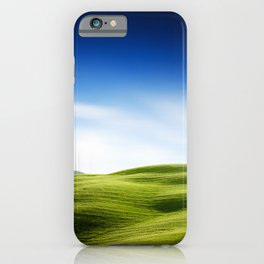 meadow field in tuscany iPhone Case