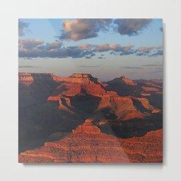 Grand Canyon Sunset Colors Metal Print