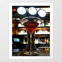 martini Art Prints featuring Martini by CandaceP.rice