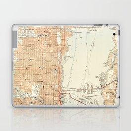 Vintage Map of Miami Florida (1950) Laptop & iPad Skin