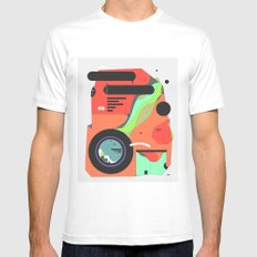 Camera blobsqura MEDIUM White Mens Fitted Tee