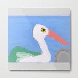 Swan on a Lake #2 Metal Print