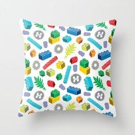 Colourful Building Blocks Throw Pillow