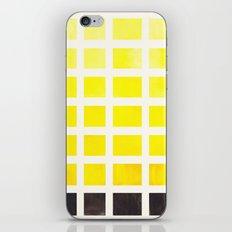 Watercolor Geometric Square Yellow Pattern Mid Century Modern Minimalist Art iPhone & iPod Skin