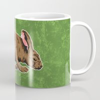 hare Mugs featuring Hare by Skekfaer