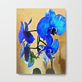 Painted Blue Orchid Metal Print