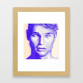 BLUE MAN Framed Art Print