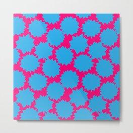 Pop Art Starburst // Blue & Pink Metal Print