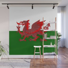 Welsh Red Dragon Flag Wall Mural