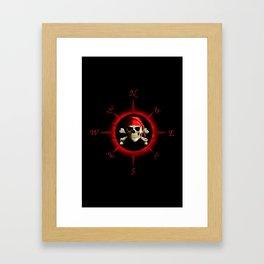 Pirate Compass Rose Framed Art Print