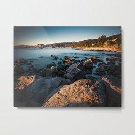 Photograph of a rocky coastline and beach Metal Print
