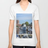 oslo V-neck T-shirts featuring Minesweeper Alta In Oslo by Malcolm Snook