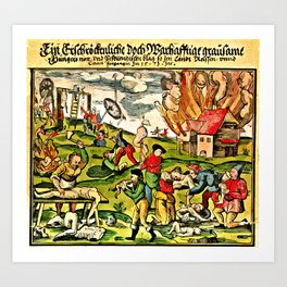 Cannibalism in Russia and Lithuania 1571 Art Print