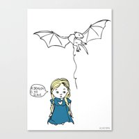 targaryen Canvas Prints featuring Daenerys Targaryen by Jazzlikestodraw