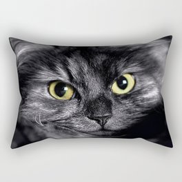 Spooky Black Cat Rectangular Pillow