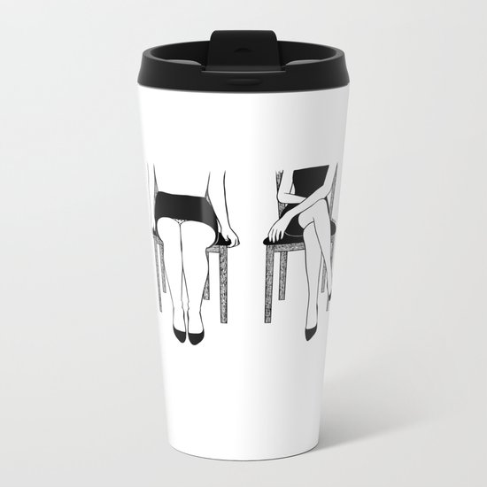 Be Bold or Italic, Never Regular Metal Travel Mug