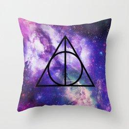 Deathly Hallows Galaxy Throw Pillow