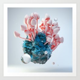 Mushroom Rock Art Print