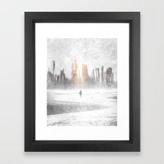 Grey hope Framed Art Print
