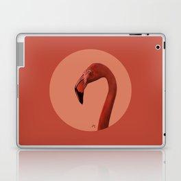 Round Flamingo Laptop & iPad Skin