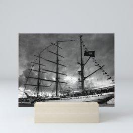 Portuguese tall ship Mini Art Print