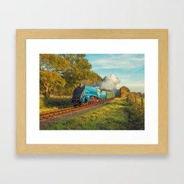 Mallard Steam Locomotive Framed Art Print