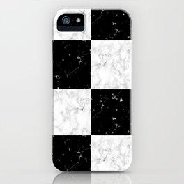 Elegant black white marble iPhone Case