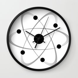 Atomic Mass Structure 6 Wall Clock