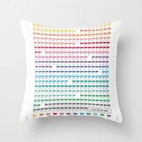 calendar Throw Pillows featuring Calendar 2014 by neuprouns