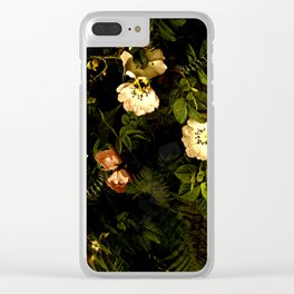 Floral Night III Clear iPhone Case