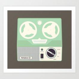 Westinghouse Reel to Reel Art Print
