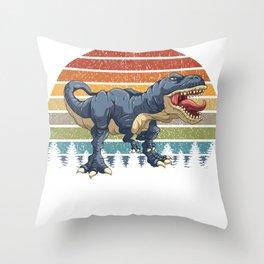 Vintage T Rex Tyrannosaurus T-Rex & Dinosaurs Dino Throw Pillow