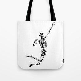 Jumping Skeleton Tote Bag