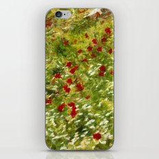 Impressionist Poppies iPhone & iPod Skin