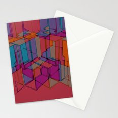 Cube Geometric I Stationery Cards