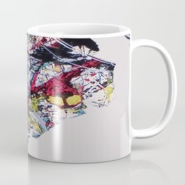 Pollock Clean Painting Parody Funny Abstract Coffee Mug