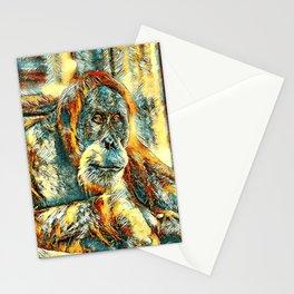 AnimalArt_OrangUtan_20180203_by_JAMColorsSpecial Stationery Cards
