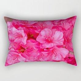 Pink Azalea Blooms 2 Rectangular Pillow