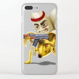 Bananilla - the banana revolution Clear iPhone Case