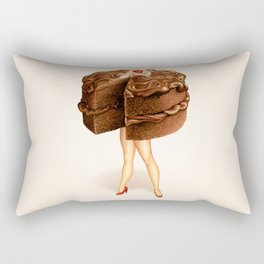 Cake Girl - Chocolate Rectangular Pillow