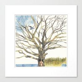 The Blue Raven Canvas Print