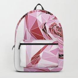 polygonal rose Backpack